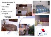 Apartamento amueblado y equipado zona 15
