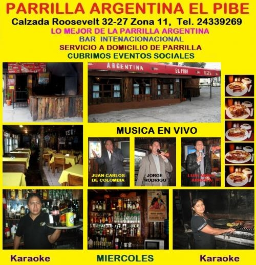 Musica en vivo guatemala - parrilla argentina el pibe - restaurantes en guatemala ?