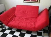 2 sofa cama color rojo