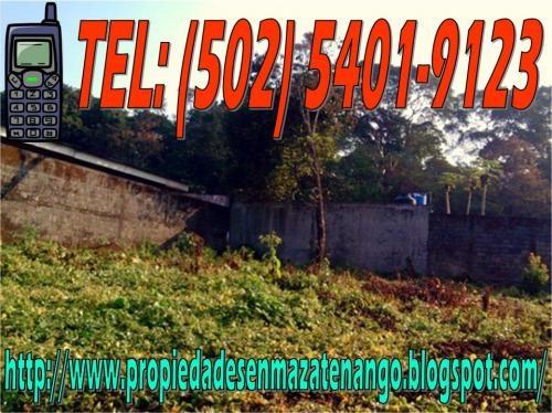Vendo terreno lote mazatenango