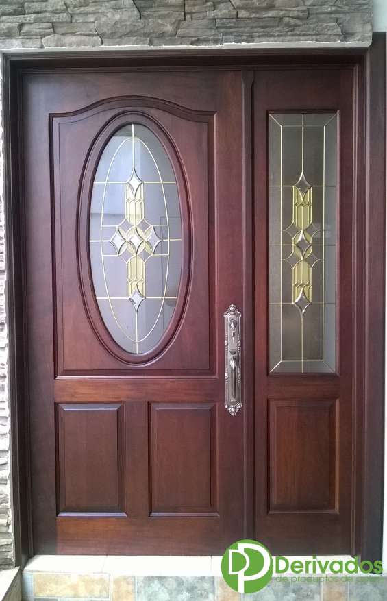 Pueras de madera vanguardia puertas de aluminio para bao for Puertas interiores de madera con vidrio