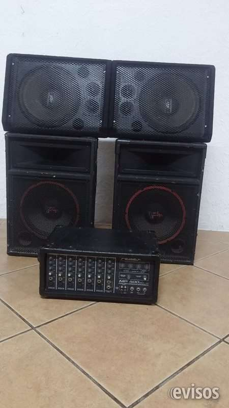 Amplificador y bocinas