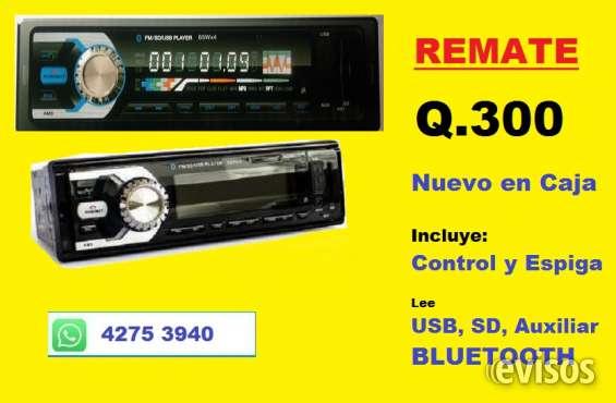 Radio nuevo para carro con bluetooth