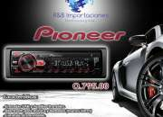 Radio para carro marca Pioneer Bluetooth.