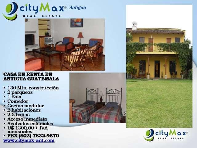Citymax antigua alquila casa en antigua guatemala