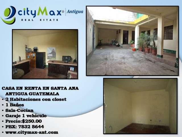 Citymax antigua alquila casa en santa ana, antigua guatemala