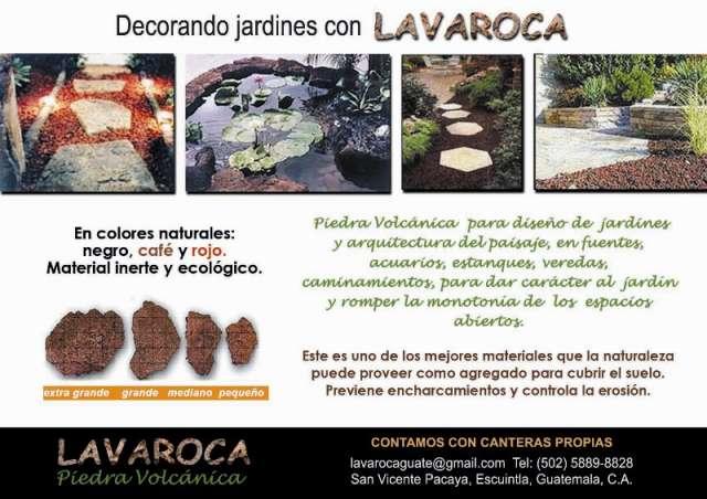 Piedra, grava y arena volcánicas para jardín