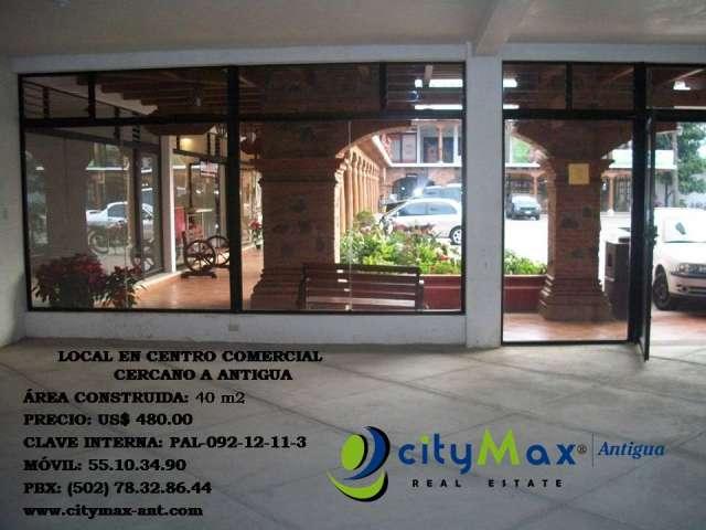Citymax renta local en ccomercial cercano a antigua guatemala