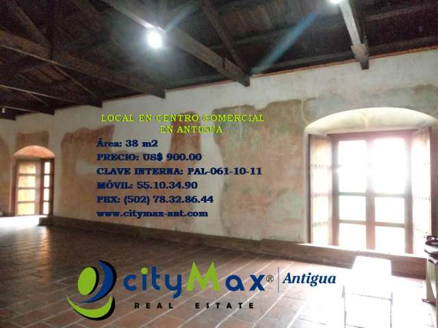Citymax antigua renta local en ccomercial en antigua