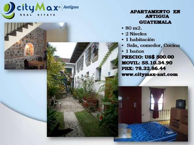 Citymax antigua renta apartamento en antigua, guatemala