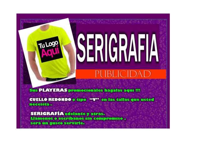 Aquí playeras con serigrafia. en Ciudad de Guatemala - Otros ... 089b2f5510486