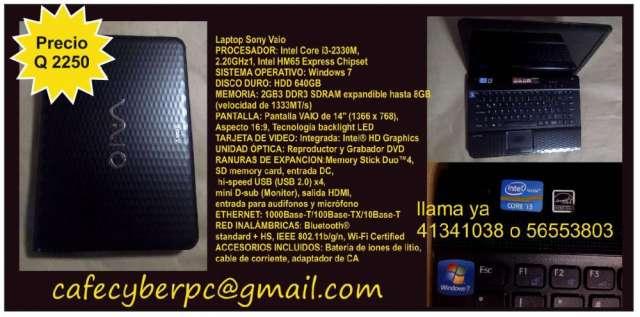 Remato laptop core i3,2gb en ram,640gb en disco duro