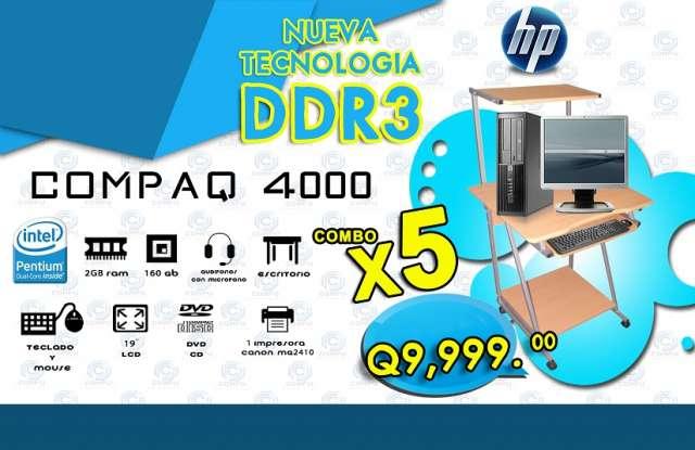 Combos de 05 computadoras ideales para colegios, academias y oficinas