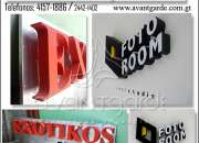 Rótulos 3d, rótulos 2d, letras encajueladas, letras en relieve, rótulos tipo block, letras
