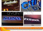 Rótulos encajuelados, letras tipo block, vallas. exhibidores, totem, mupis, rótulos lumino