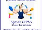 ¿Necesita empleada doméstica? Agencia GEPSA, 23 años de experiencia