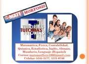Tutorías de contabilidad, matemática, física, química, estadística, inglés, progra y más..