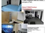Apartamento zona 9 amueblado y equipado de 1 dormitorio