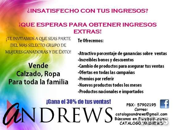 Catalogo andrews cons en Ciudad de Guatemala - Ropa y