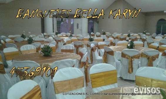 Fotos de Banquetes bella karyn alquiler de mobiliario toldos servifiestas multiservicios  3