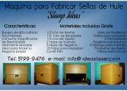 Maquina para fabricar sellos de hule al contado y por visacuotas