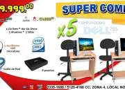 Increible Combo Para CAFE INTERNET Core2 Duo Con 4Gb RAM Sillas Giratorias Muebles y Mas!