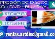 Impresión en discos, cd dvd y blu-ray