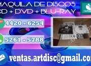 Maquila de discos, dvd's, cd's en guatemala, combos todo incluído, ¡ideal para músicos!