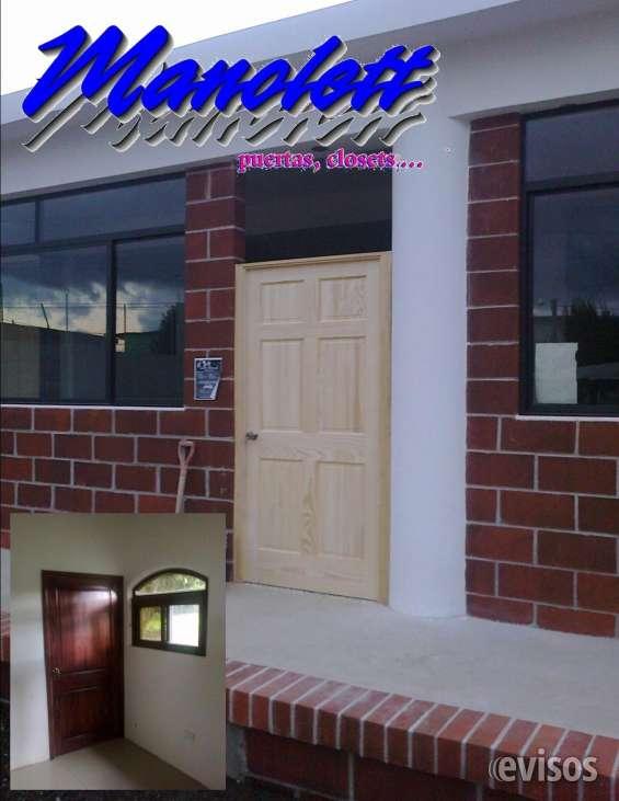 Puertas de madera y mdf, instalación sobre materiales block visto, pared con repello o tab