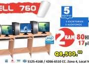 !COMBOS DE COMPUTADORAS PARA CAFE INTERNET x5 Desde Q8,500.00 Todo Incluido