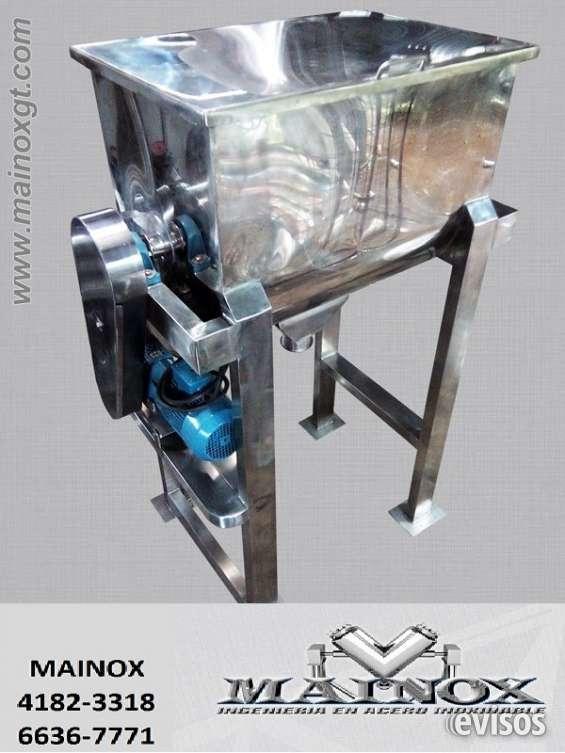 Maquinas mezcladoras para polvos en acero inoxidable