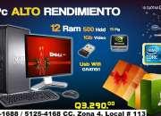 Aprovecha Computadoras DELL Optiplex780 Con 12Gb RAM 500Gb HDD 1Gb Video