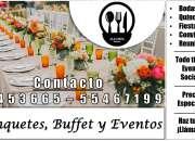 Banquetes y planificación de eventos, bufé