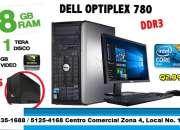 Computadoras dell 780 optiplex core2 duo con 8gb ram 1terabyte 1gb video !gratis ups!