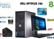 Computadoras dell optiplex 780 core2 duo con 8gb ram 1terabyte 1gb video !gratis ups!