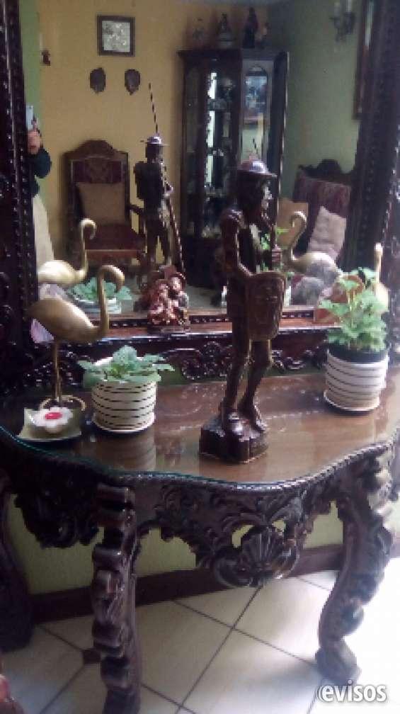 Venta don quijote, tallada en madera guayacán, artista cubano