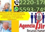 CUIDADO DE ADULTO MAYOR CON PERSONAL PROFESIONAL SOLO CON NOSOTROS