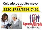 excelente cuidado de adulto mayor con el mejor personal profesional