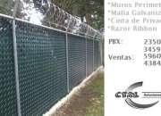 Malla Galvanizada, PVC, Cinta de Privacidad, Instalacion y Fabricacion