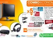 Combo de Computadoras Optiplex 755 - Combo para Colegio, Academias, Cyber y más