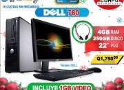 COMPUTADORAS CORE2QUAD /4Gb de Ram/Disco Duro de 250HD/Monitor Lcd 22 Pulgadas