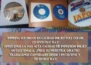 Imprime tus discos, CD/DVD/BLU-RAY en calidad inkjet, térmica o replicado. PROFESIONAL,.