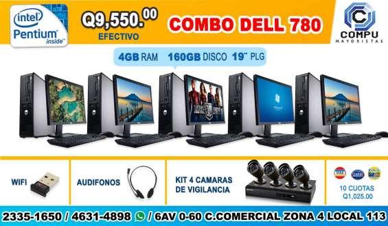 Combo seguridad 05 computadoras dell, + juego de cámaras de seguridad!! a tan solo q 9,550
