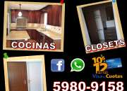 OFERTAS EN COCINAS, CLOSETS Y PUERTAS