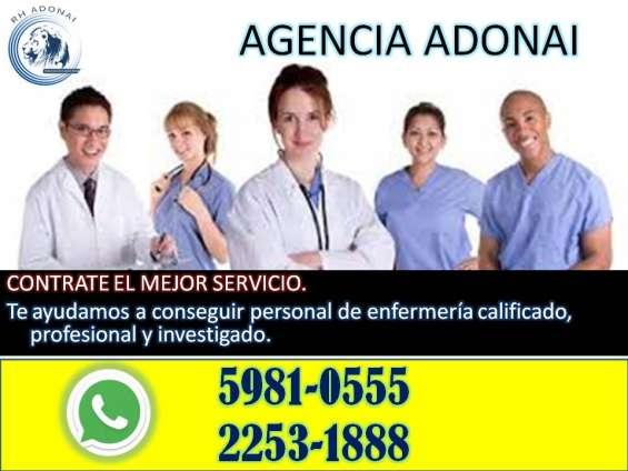 Enfermeras, agencia adonai guatemala