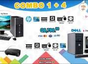 COMBOS 4+1 COMPUTADORAS DELL+ COMPUTADORA HP 8000!!! Tel: 2335-2099//5701-6630