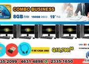COMBOS PARA QUE INICIES TU NEGOCIO PROPIO!!! 05 COMPUTADORAS HP, IDEALES PARA ACADEMIAS, C