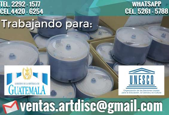 Impresión y duplicado cd/dvd/blu-ray en la capital. precios desde q2.00c/u