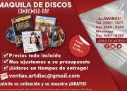 Lanza tu proyecto a un nuevo nivel, maquila de discos todo incluído a un super precio! CD