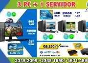 COMBO TOTAL 03 COMPUTADORAS HP+01 COMPUTADORA HP PROCESADOR COREi5 TIPO SERVIDOR, A Tan So